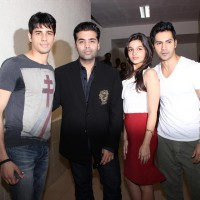 Alia, Varun, Karan and Siddharth