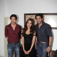 Bipasha Basu with Behzaad Khan and Shaleen Malhotra Meet Star Plus Show Arjun