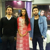 Fawad Afzal Khan, Sanam Saaed and Fahad Mustafa