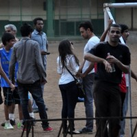 Aamir Khan playing football with his family