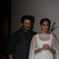 Anil Kapoor with Sonam Kapoor at Success party of film Raanjhanaa | Raanjhanaa Event Photo Gallery