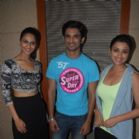 Vaani Kapoor, Sushant Singh Rajput, Parineeti Chopra were seen at the launch | Shuddh Desi Romance Event Photo Gallery