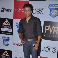 A rare appearence by Abhijeet Sawant at the Premiere of JOBS