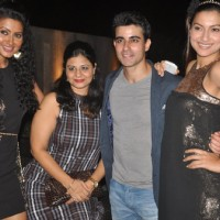 Gautam With Nigaar and Gauhar Khan at his birthday bash