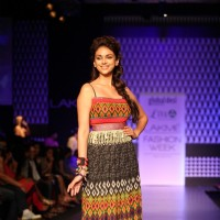 Aditi Rao Hydari in a Anita Dongre outfit for Global Desi at LAKME FASHION WEEK 2013