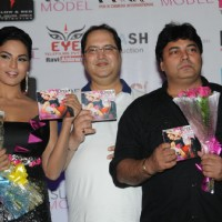 Veena Malik with Navin Batra and Ravi Ahlavat at the Super Model - Music Launch