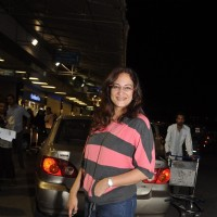 Rakshanda Khan was seen at Mumbai Airport leaving for SAIFTA