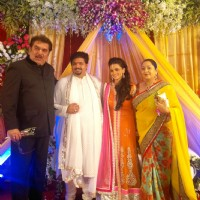 Raza Murad at Rahul Thackeray & Aditi Redkar's engagement