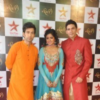 Nakuul Mehta, Ishita Dutta and Vipul Gupta at the Star Plus Diwali TV show