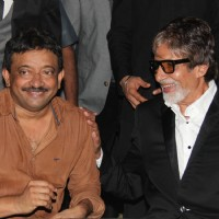 Ram Gopal Varma snd Amitabh Bachchan were seen at the Satya 2 Theme Party