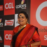 Usha Uthup was seen at the Celebrity Cricket League Red Carpet Season 4