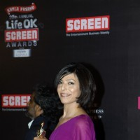 Shilpa Shukla was seen at the 20th Annual Life OK Screen Awards