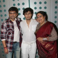 Sonu Nigam and Usha Uthup were at Happy Anniversary's music recording