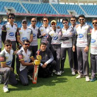The Mumbai Heroes team at the CCL Dubai match