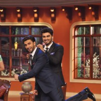 Ranveer and Arjun show off their interesting chemistry on Comedy Nights with Kapil | Gunday Event Photo Gallery