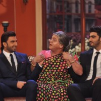 Ranveer Singh, Ali Asgar and Arjun Kapoor in a gig on the show | Gunday Event Photo Gallery