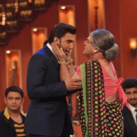 Ali Asgar jokes with Ranveer Singh on Comedy Nights with Kapil | Gunday Event Photo Gallery