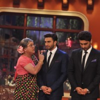 Ali Asgar shares some words of wisdom with Ranveer and Arjun | Gunday Event Photo Gallery