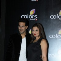 Deepshikha Nagpal with her husband at the IAA Awards and COLORS Channel party