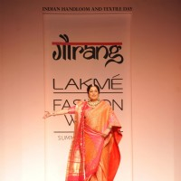 Kirron Kher at Lakme Fashion Week Summer Resort 2014 Day 4
