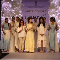 Dia Mirza and Anita Dongre at Lakme Fashion Week Summer Resort 2014 Day 4