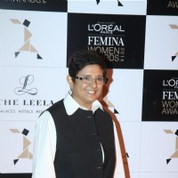 Kiran Bedi was seen at the L'Oreal Paris Femina Women Awards 2014