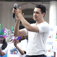 Imran Khan cheers the dancers at the promotions of Rio 2