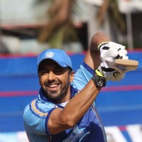 Ashish Chowdhry hits a six at the Zee 20 Cricket League