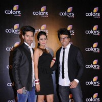 Rithvik Dhanjani, Ravi Dubey and Sargun Mehta at Colors party in March 2014