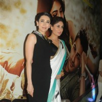 Karisma and Kareena Kapoor at the Music launch of 'Lekar Hum Deewana Dil'
