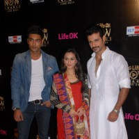 Cast of Ek Boond Ishq at Life OK Now Awards .