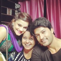 Anas Rashid with Kanika Maheshwari and Neelu Vaghela