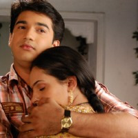 Romantic scene of Mohan and Bhakti