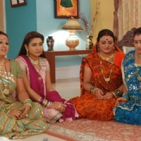 Manjula, Jalpa, Alpa and Rajeshwari looking sad