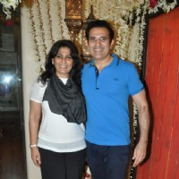 Archana Puran Singh with Parmeet Sethi at Javed Jaffrey's Rocking EID Bash