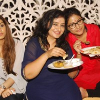 Hina Khan with Neelima Tadepalli and Neha Saroopa at the celebration