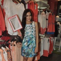 Shazahn Padamsee poses for the camera at the Launch of Madame's Studio Collection