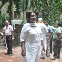 Pratima Kazmi was at the Funeral of Dharmesh Tiwari