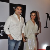 Malaika Arora Khan and Arbaaz Khan pose for the media at the Birthday Bash cum Launch