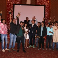 The swastik team celebrate the Success of Mahabharat