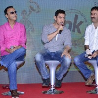 Aamir Khan addresses the audience at the Second Poster Launch of P.K.