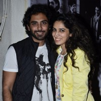 Rohit Khurana with a friend at the Special Screening of Katiyabaaz