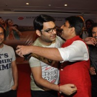 Shailesh Lodha and Kapil Sharma were seen hugging each other at the Album Launch of Marudhar