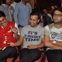 Shailesh Lodha and Rajiv Thakur were seen having a good time at the Album Launch of Marudhar