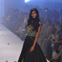 Diana Penty walks the ramp for Rocky Star at the Lakme Fashion Week Winter/ Festive 2014 Day 4