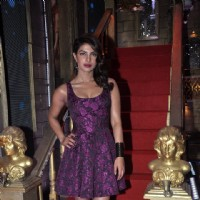 Priyanka Chopra poses for the media at the Promotion of Mary Kom
