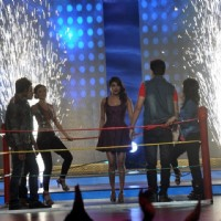 Priyanka Chopra perfroms with the contestants on India's Best Cine Stars Ki Khoj