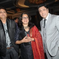 Reema Lagoo poses with Govinda at IMFAA