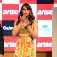 Bipasha Basu blows out a kiss to her fans at the Promotions of Creature 3D in Delhi