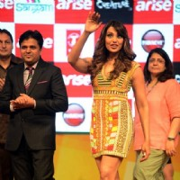 Bipasha Basu waves out to her fans at the Promotions of Creature 3D in Delhi